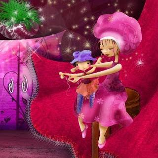 Illustration jeunesse : couture poupée de chiffon