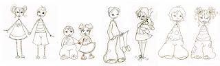 ces fillettes et petits garçons dessinés au crayons papier ont été illustrer par l'illustratrice laure phelipon