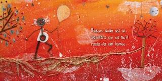 illustration  Papi vit en équilibre sur son hamac papi dormait nuit et jour sur son hamac même en hiver avec l'intervention d'Octave sa vie va changer par l'illustratrice jeunesse laure phelipon
