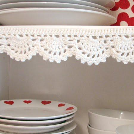 Yarning Made Crocheted Shelf Edging