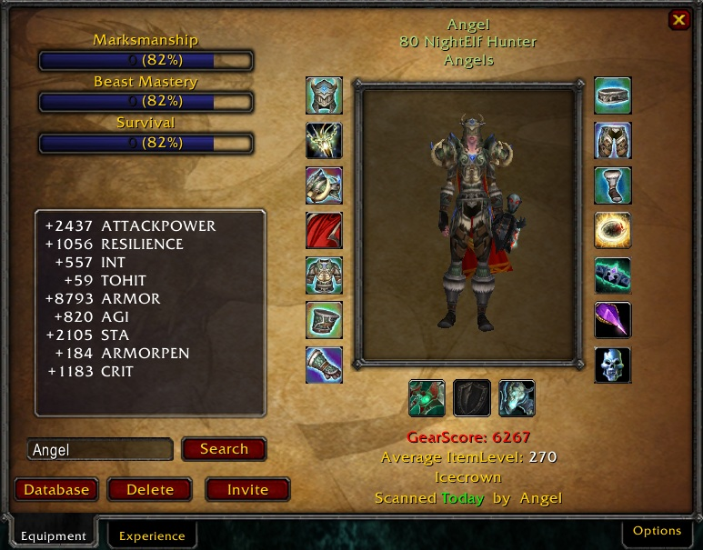 addon wow gear score 3.3.5