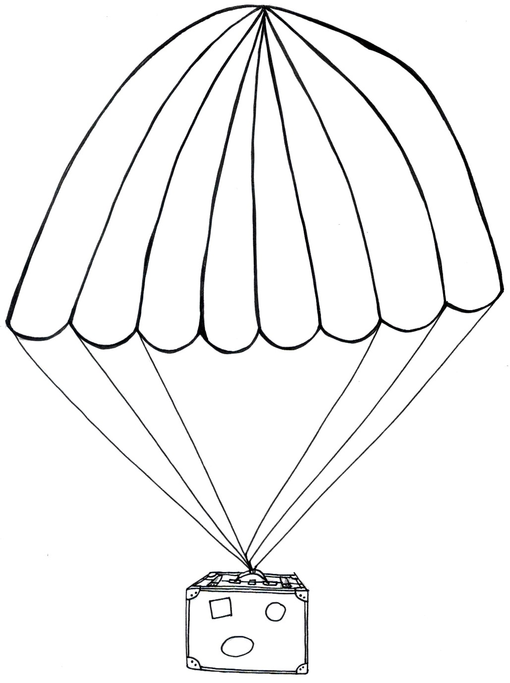 People Parachuting Coloring Coloring Pages