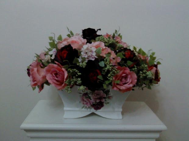 Gubahan Bunga Meja Ruang Tamu