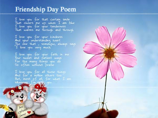 Friends poems about rhyme best that Best Friend