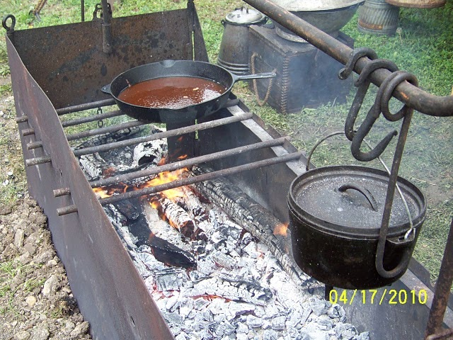 Cowboys And Chuckwagon Cooking Building A Fire Box For