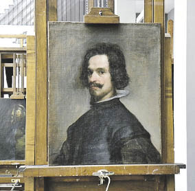 5436d485dd Retrato de hombre , durante la restauración en el taller del Museo  Metropolitan,N.Y.