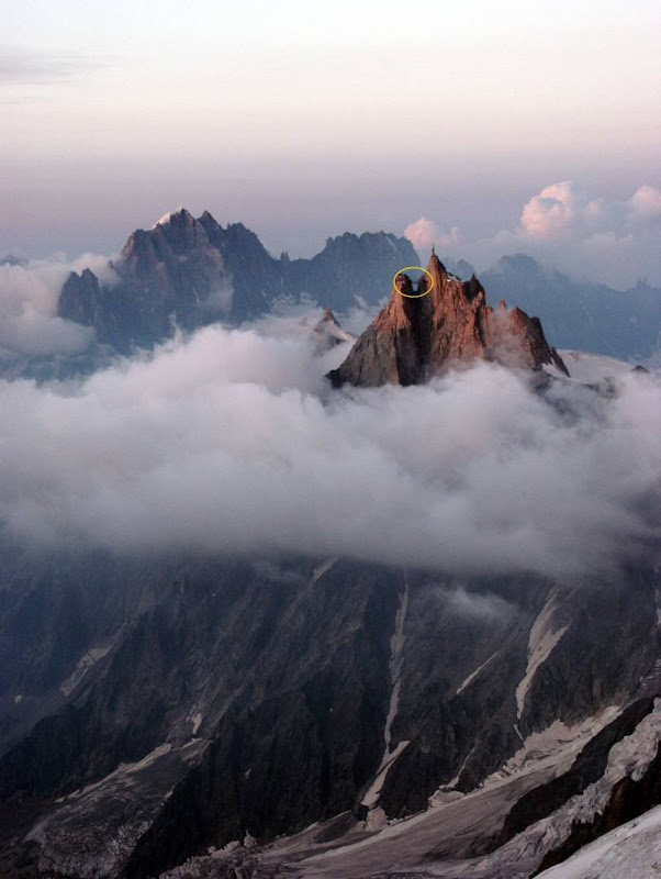 The Aiguille du Midi mountain in France