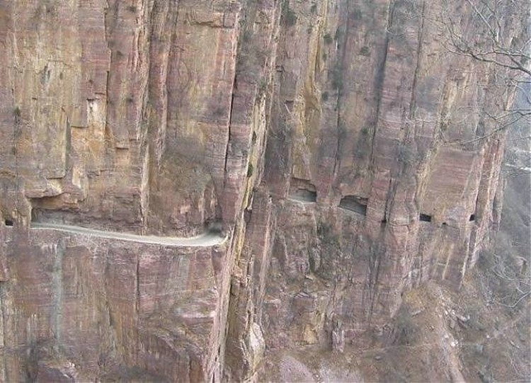 Guoliang Tunnel in the Taihang Mountains in China