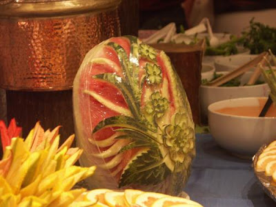 Watermelon carving art - seen at iousphotos.blogspot.com