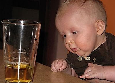Funny Pictures Baby Drinking Beer