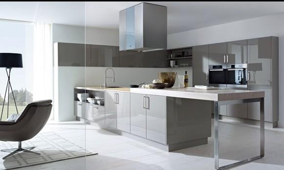 maison moderne en l 18 exemples d 39 ilots de cuisines design. Black Bedroom Furniture Sets. Home Design Ideas