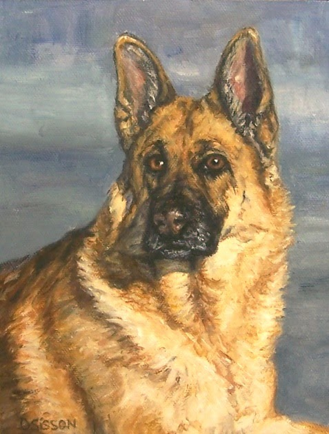 Daily Painting Projects Noble Shepherd Oil Painting Dog