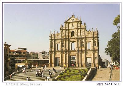Carte Thailande Hong Kong.Postcard A La Carte Asia Macau Year Of Ox