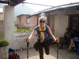 Volunteer Ola on trekking