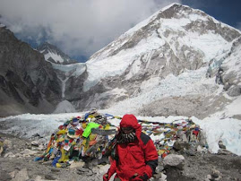 Volunteer Alex Kowalska on Evere Base Camp