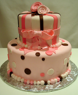 Brown & Pink Birthday Cake by PinkCakeBox from flickr (CC-NC-ND)