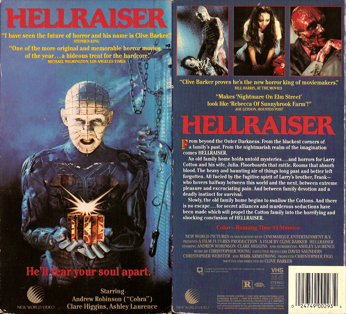 Basement Of Ghoulish Decadence Hellraiser 1987 1988