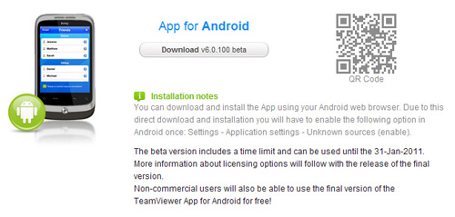 TeamViewer 6 Beta Now Available for Android | SumTips