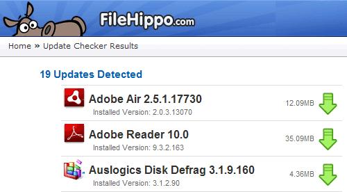 FileHippo Update Checker