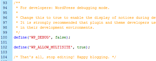 Enable WordPress Multisite 1