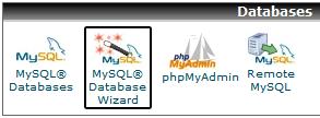 MySQL Wizard in CPanel