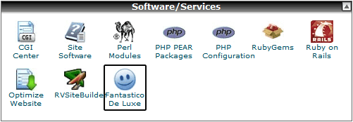 Fantastico De Luxe option in CPanel