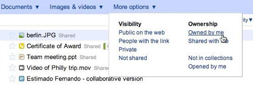 Google Docs Filters