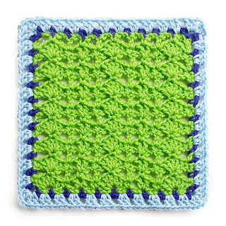 Variations on a Theme Square #3 Mystery Crochet Along edging complete