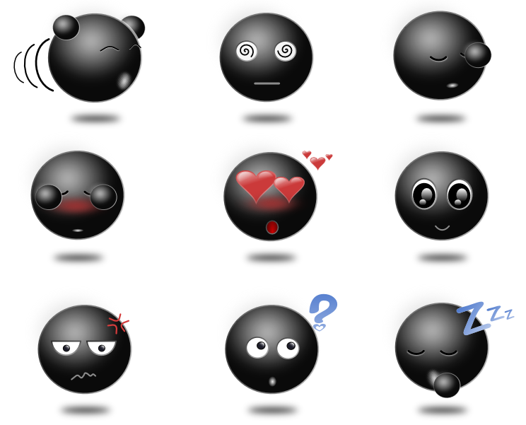 Cute and Beautiful Emoticon Icon Pack - ShutterLinks