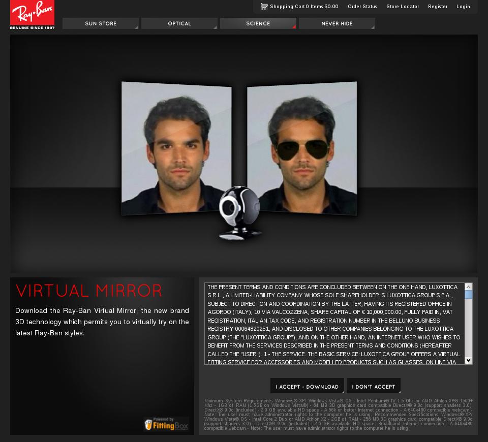 c61aca8a92 Ray Ban Virtual Mirror Makeovers « Heritage Malta