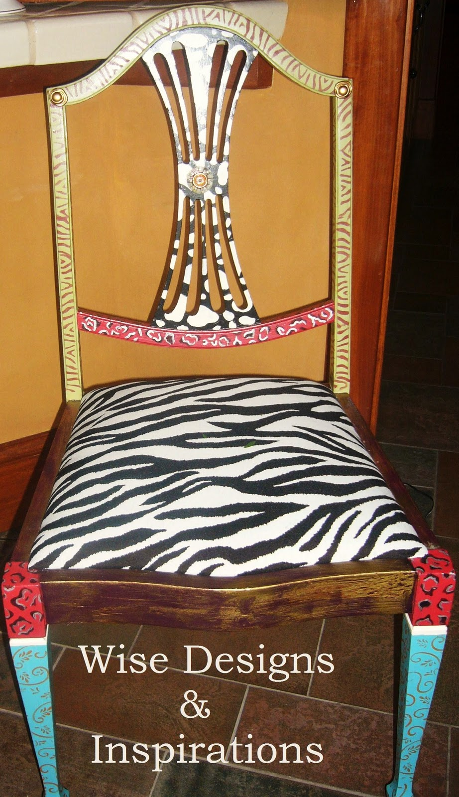 Wise Designs Inspirations.: FUN PAINTED OLD CHAIRS!