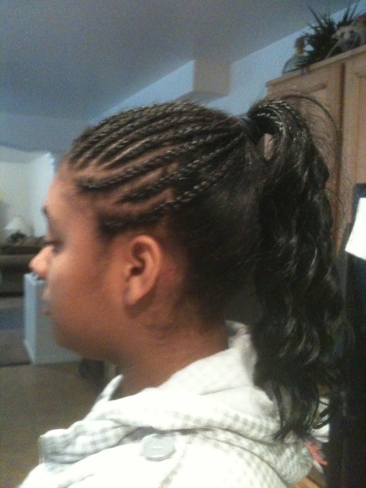 cornrows braids extensions half cornrows with a sew in ponytail
