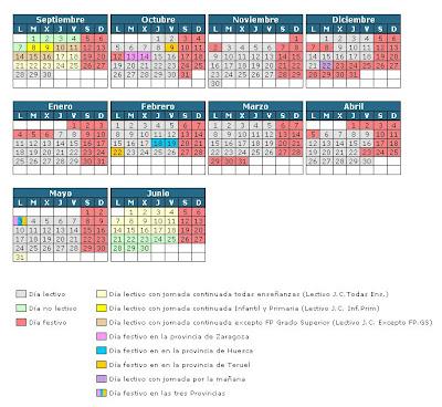 Aragon Calendario Escolar.Escool Zaragoza El Calendario Escolar 2009 2010