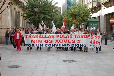 Manifestación da CIG-Aforro en defensa da xornada laboral