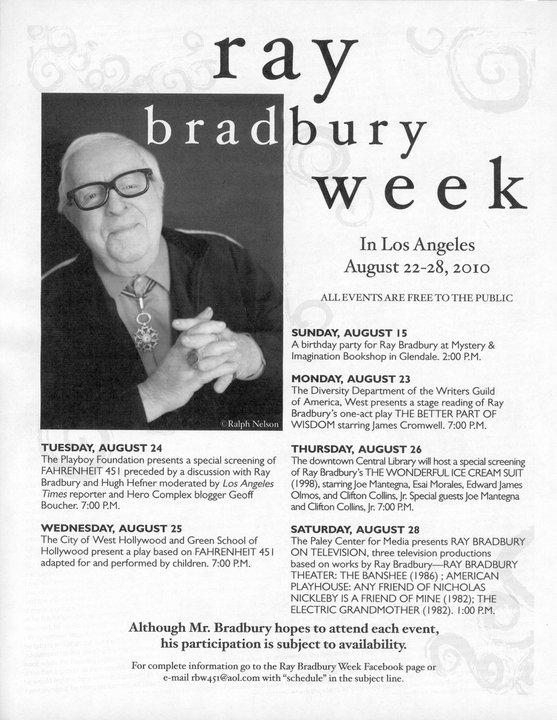 Fahrenheit 451: Freedom to Read: Ray Bradbury Week