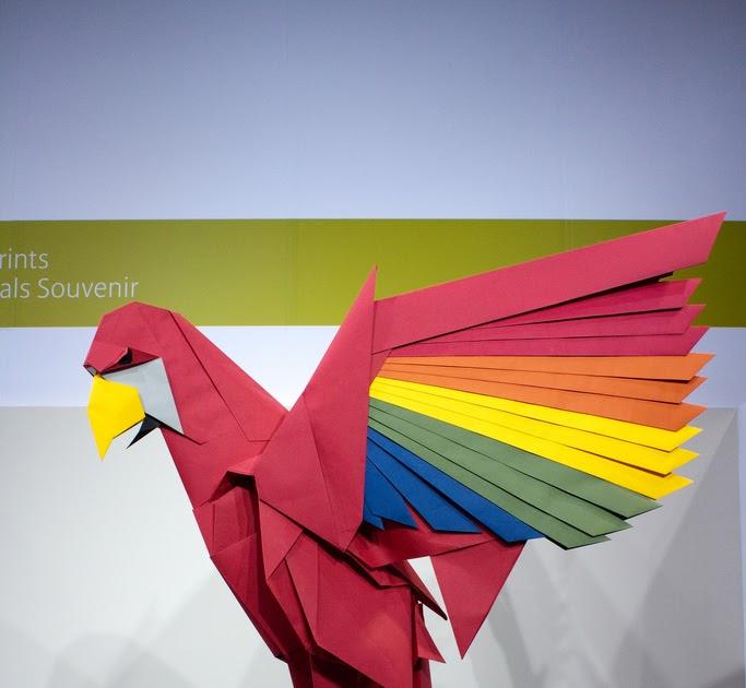 Origami Parrot (Barth Dunkan) - YouTube   630x683