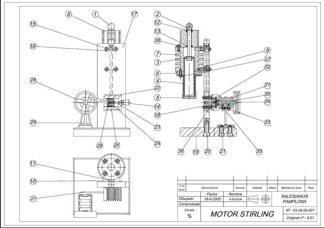 Ogaproyectos Motor Stirling