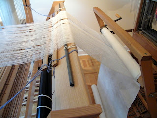 Dust Bunnies Under My Loom: Moving Warp From Loom to Loom