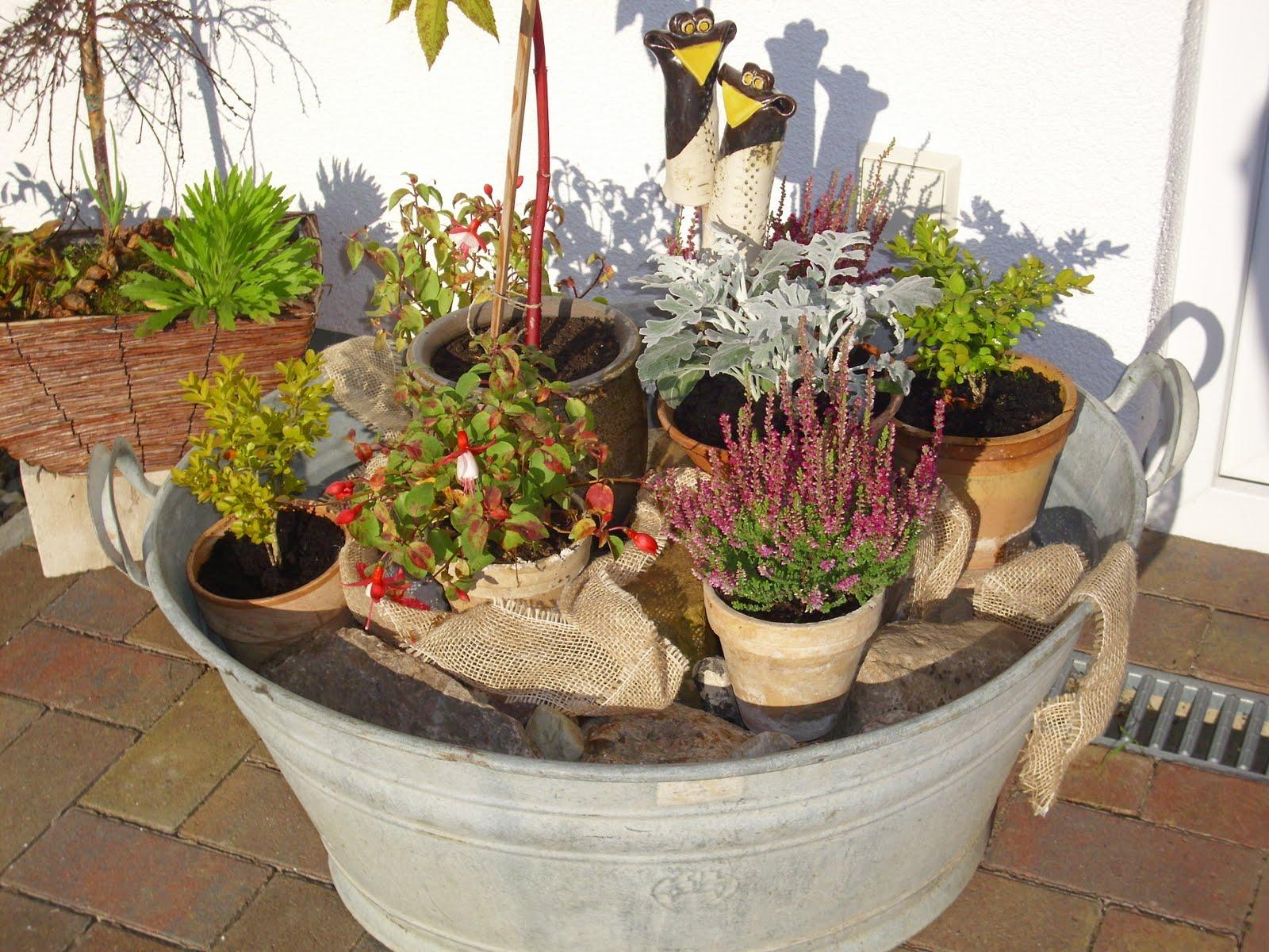 Svanvithe ein bisschen herbst for Gartengestaltung zinkwanne