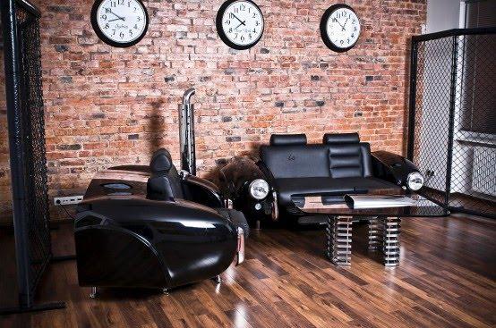 Interior Retro With Custom Built Auto Furniture Collection