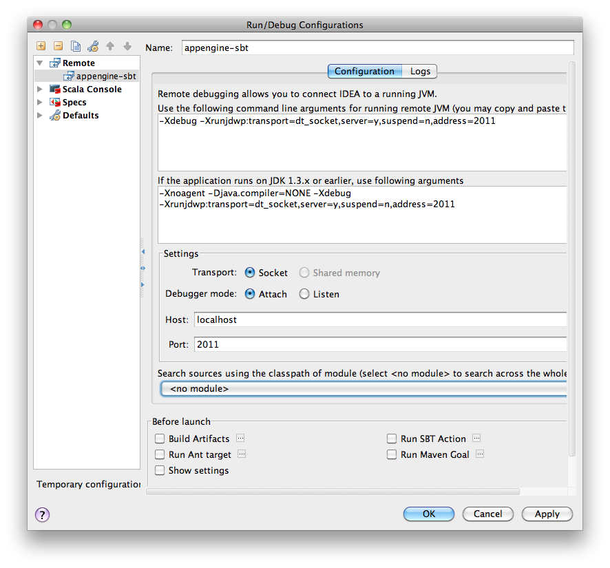 pomu0325: [Scala] sbt-appengineなプロジェクトをIntelliJ IDEA