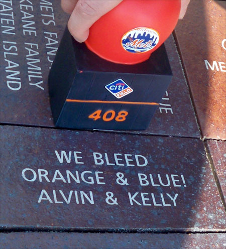 NY METS FANWALK BRICK -Alvin & Kelly