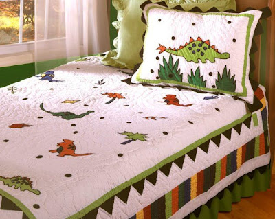 , Luxury Bedding for Boys Wild about Dinosaurs