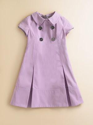 , Lilac Burberry Toddler Girl's Shirtdress