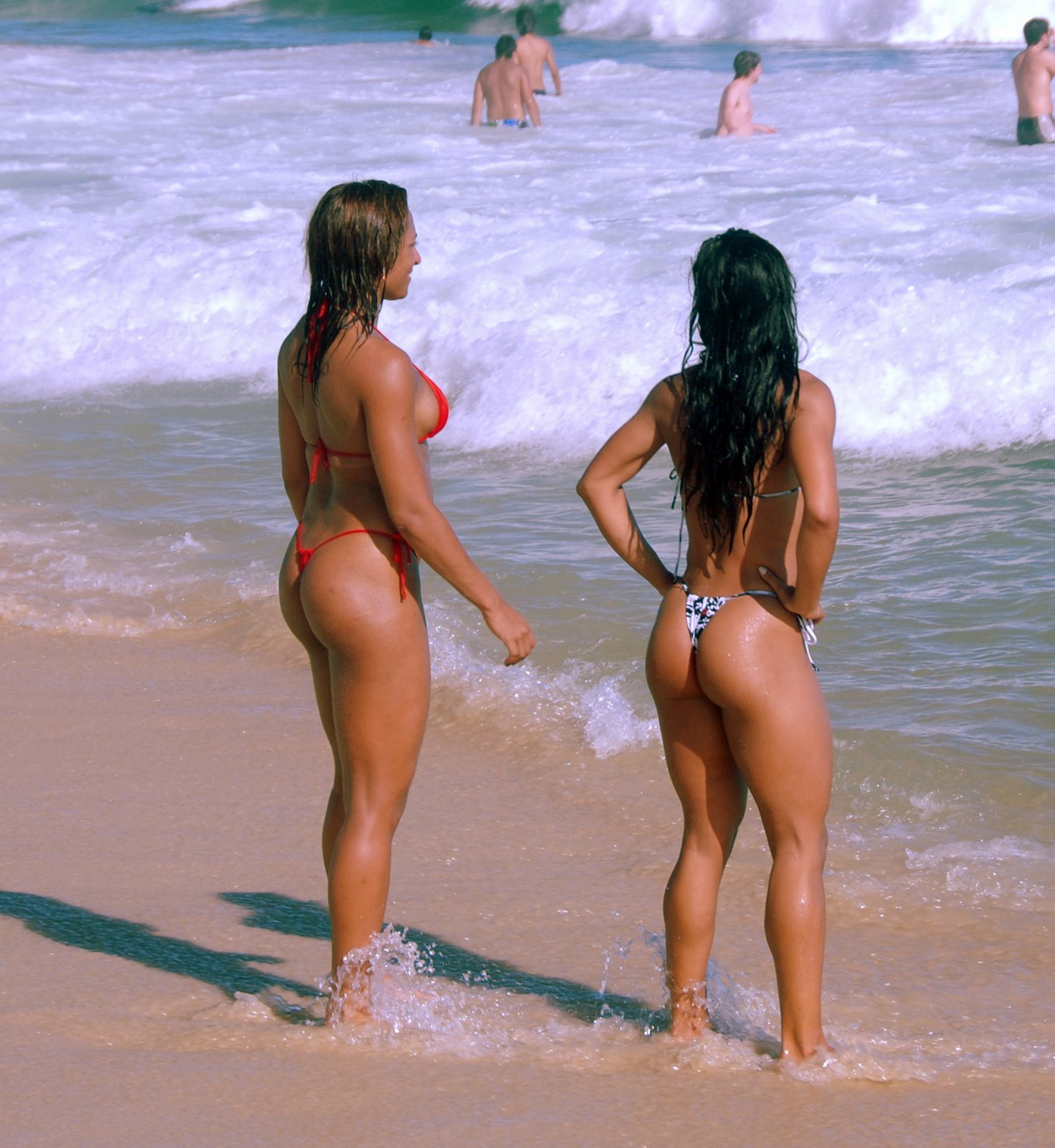 Nude females the beach with a big ass