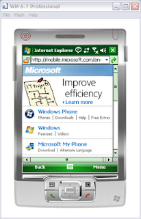 The EXPTA {blog}: How to Use the Windows Mobile 6 1 Device