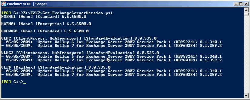 The EXPTA {blog}: PowerShell Script to get Exchange Version