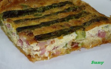 QUICHE DE BACON Y ESPARRAGOS