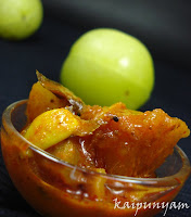 Gooseberry Pickle Read more: http://kaipunyam.blogspot.com/2010/12/chicken-biriyani-wish-you-all-wonderful.html#ixzz1Jh1tgZlH
