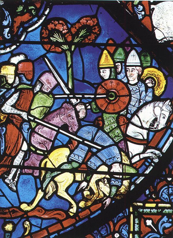 Batalha de Roncesvales. Vitral da Catedral de Chartres.